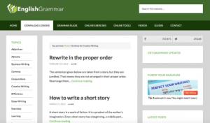 تعلم قواعد اللغة الإنجليزية مع EnglishGrammar.org